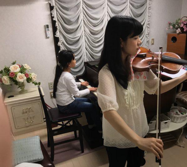 ヴァイオリンの合わせをしました