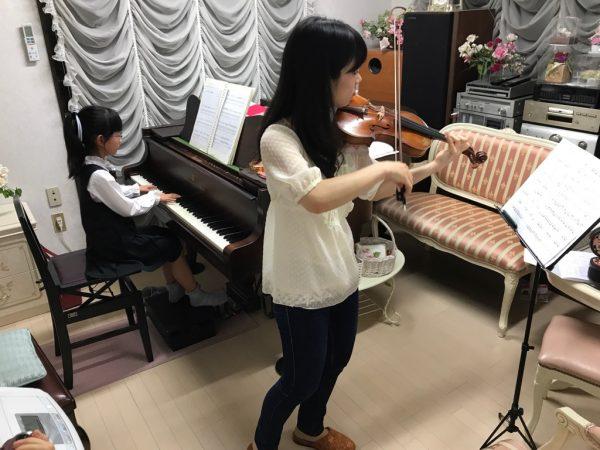 ヴァイオリンと合わせました