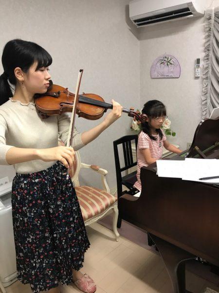 ヴァイオリニスト久津那綾香さんとのアンサンブル